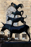 Town Musicians of Bremen. Statue Town Musicians of Bremen in Bremen, Germany Royalty Free Stock Image