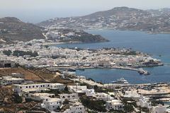 The town of Mykonos island Royalty Free Stock Images