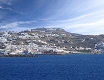 The town of Mykonos island Royalty Free Stock Photography
