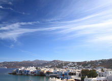 The town of Mykonos island Royalty Free Stock Photo