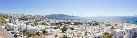 Town of Mykonos island Stock Images