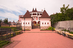 The town of Myshkin, Yaroslavl region. The house where they live mouse. Fabulous tourist town Stock Photos