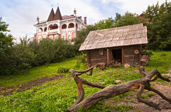 The town of Myshkin, Yaroslavl region. The house where they live mouse. Fabulous tourist town Royalty Free Stock Photos