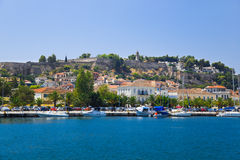 Town Nafplion and castle, Greece Stock Images