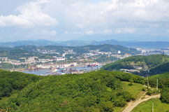 Town Nakhodka. View from above Stock Images