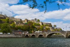 Town Namur in Belgium. Architecture background Royalty Free Stock Images