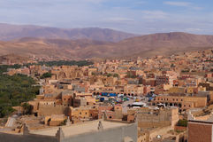 A town near oasis in Tineghir,Morocco Stock Image