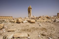 Town near Palmyra in Syria Royalty Free Stock Photography
