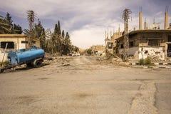 Town near Palmyra in Syria Stock Photos