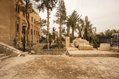 Town near Palmyra in Syria Royalty Free Stock Images