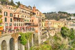 The town of Nemi on the Alban Hills, Italy Royalty Free Stock Images