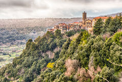 The town of Nemi on the Alban Hills, Italy Stock Photo