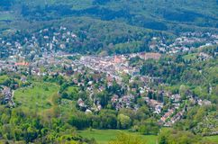 Town nestling amongst trees in the Black Forest. Town nestling amongst trees in a forested mountain valley in the Black Forest region of Germany in a travel stock image