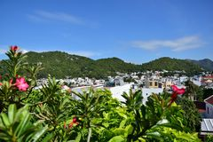 Country of tropical flowers. The town of Nha Trang. View from the towers of Ponagar Stock Images