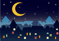 Town night star Stock Images