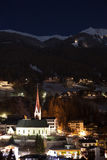 Town night view. Soelden, Austria Royalty Free Stock Photography