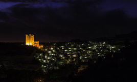 Town in the night Royalty Free Stock Photography