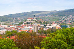 Town of Nitra, Slovakia. High-level view of town of Nitra, Slovakia Royalty Free Stock Photos