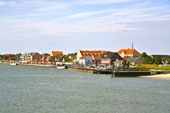 Town of Nordby on the island of Fano in Denmark from seaside Stock Photos