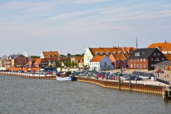 Town of Nordby on the island of Fano  in Denmark from seaside Royalty Free Stock Photos