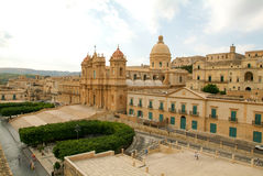 The town of Noto on Italy Stock Images