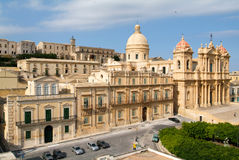 The town of Noto on Italy Royalty Free Stock Images