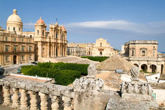 The town of Noto on Italy. Unesco world heritage Royalty Free Stock Photo