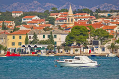 Town of Novalja waterfront view Stock Images