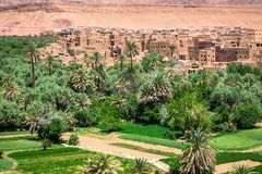 Town and oasis of Tinerhir, Morocco.  Stock Image