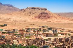 Town and oasis of Tinerhir, Morocco.  Stock Photos