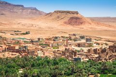 Town and oasis of Tinerhir, Morocco.  Royalty Free Stock Images