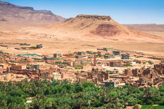 Town and oasis of Tinerhir, Morocco.  Royalty Free Stock Photos