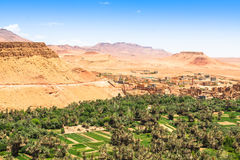 Town and oasis of Tinerhir, Morocco.  Stock Photo