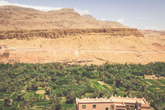 Town and oasis of Tinerhir, Morocco.  Stock Photography
