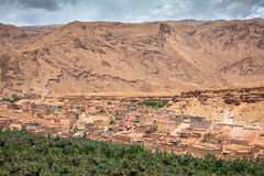 Town and oasis of Tinerhir, Morocco.  Royalty Free Stock Photo