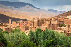 Town and oasis of Tinerhir, Morocco.  Royalty Free Stock Image