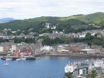 Town of Oban Scotland. Coastal town of Oban Scotland Stock Photos
