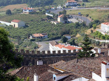 The Town of Obidos. Fortification of the old town of Obidos stock photography