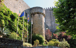 The Town of Obidos. Fortress tower of the old town of Obidos royalty free stock photography
