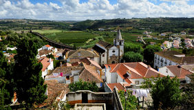 Town Obidos, Portugal Stock Images