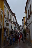 Town of Obidos in Portugal Stock Photography