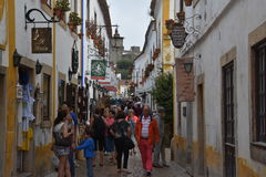 Town of Obidos in Portugal Royalty Free Stock Image