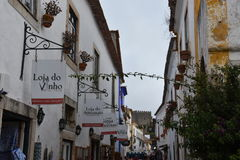 Town of Obidos in Portugal Stock Photo