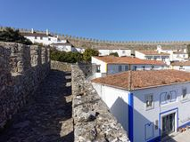 The Town of Obidos, Portugal Royalty Free Stock Images
