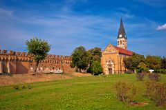 Free Town Of Ilok Defense Walls And Church View Stock Images - 129812584