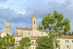 Free Town Of La Turbie With Trophee Des Alpes And Church, France Stock Image - 52317731