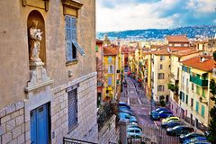 Free Town Of Nice Colorful Street Architecture And Church View Stock Photos - 141938633