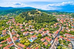 Free Town Of Sinj In Dalmatia Hinterland View, Historic Fortress And Church On The Hill Royalty Free Stock Image - 191675146