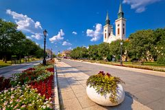 Free Town Of Sombor Square And Church View Royalty Free Stock Photo - 125721375