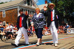 Town Officials on Parade Royalty Free Stock Photography